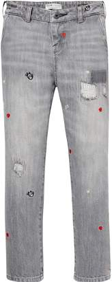 Scotch & Soda Embroidered Jeans - Felix The Cat Skinny Fit