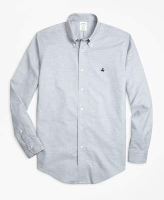 Brooks Brothers Non-Iron Milano Fit Heathered Oxford Sport Shirt