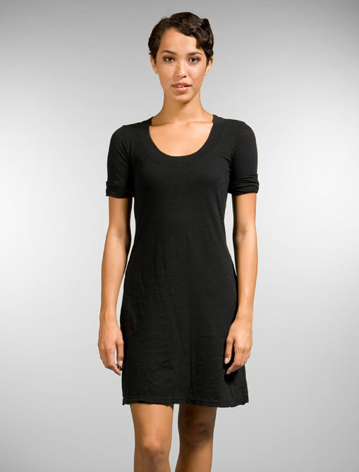 James Perse Rolled Sleeve Scoop T-Shirt Dress