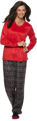 Croft & Barrow Women's Minky Fleece 3-piece Pajama Set
