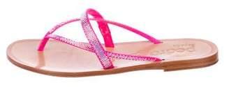 Pedro Garcia Embellished Thong Sandals