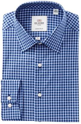 Ben Sherman Dobby Gingham Slim Fit Dress Shirt
