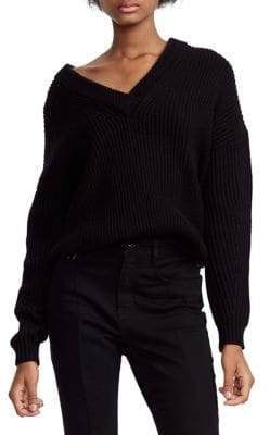 Maje Oversized Rib-Knit Sweater