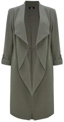 Wallis Khaki Waterfall Duster Jacket