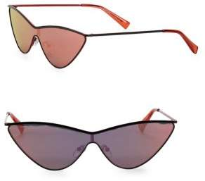 Le Specs Adam Selman x Luxe The Fugitive Black & Mirrored Sunglasses