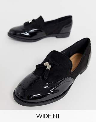 6023ebd4af5 at ASOS · Simply Be Wide Fit Simply Be wide fit loafer with tassel trim in  black
