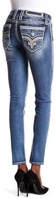 Rock Revival Faded Stitched Skinny Jeans