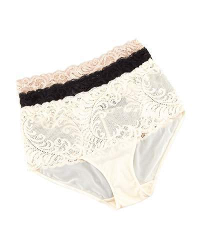 Natori Feather High-Waist Briefs