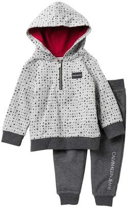 Calvin Klein Hooded Terry French Top & Pants Set (Baby Boys)