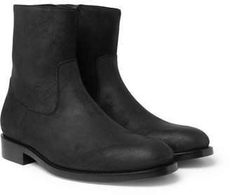 Balenciaga Brushed-Suede Chelsea Boots