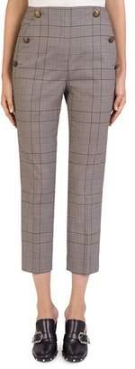 The Kooples Glen-Plaid Cropped Pants