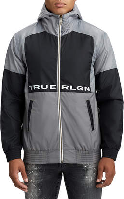 True Religion MENS INSULATED CONTRAST WINDBREAKER JACKET