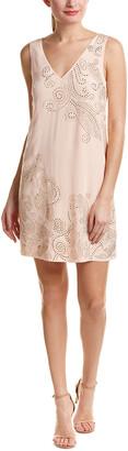 Trina Turk Glitterati Silk Shift Dress