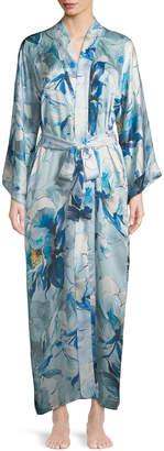 Christine Designs Swept Away Long Silk Robe