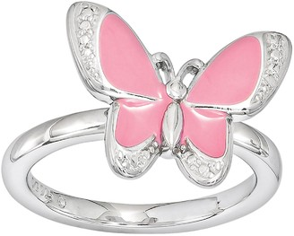 Stacks & Stones Sterling Silver Butterfly Stack Ring