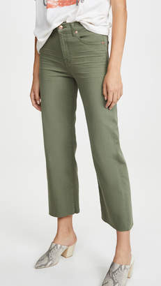 7 For All Mankind Cropped Alexa Jeans with Cutoff Hem