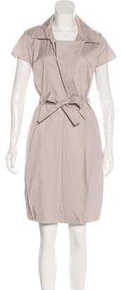 Celine Céline Short Sleeve Knee-Length Shirtdress Beige Céline Short Sleeve Knee-Length Shirtdress