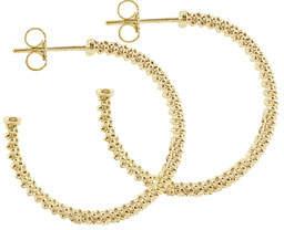 Lagos 25mm 18K Gold Caviar Hoop Earrings