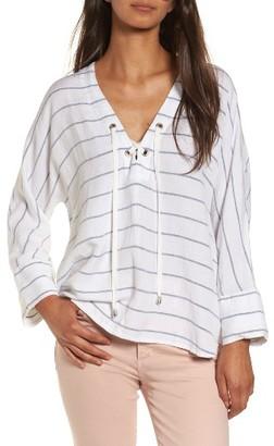 Women's Rails Lily Lace-Up Blouse $148 thestylecure.com