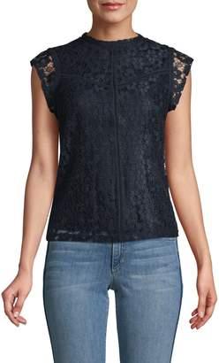 Nanette Lepore Nanette Floral Lace Cap-Sleeve Top