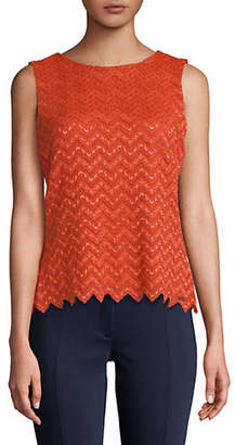 Calvin Klein Sleeveless Lace Knit Top