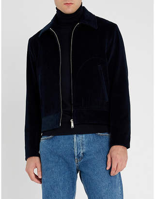 Sandro Spread-collar corduroy jacket