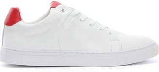 Daniel Linfold White Leather Lace Up Trainers