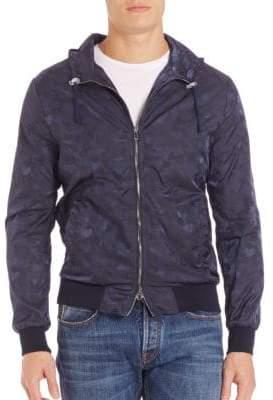 Eleventy Tonal Camo Print Hooded Jacket