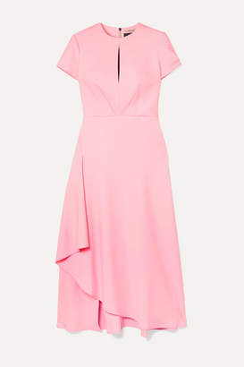 Roland Mouret Ardmore Crepe Midi Dress - Pink