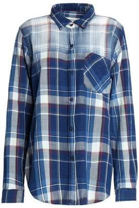 Current/Elliott The Boyfriend Checked Cotton-Flannel Shirt