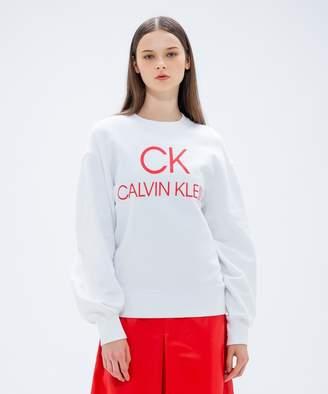 Calvin Klein (カルバン クライン) - CK CALVIN KLEIN WOMEN クラシックコットンフレンチテリー スウェット(C)FDB