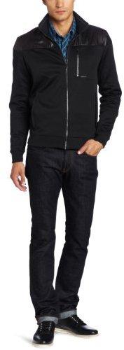 Calvin Klein Sportswear Men's Slim Fit Long Sleeve Full Zip Jacket With Woven Trim