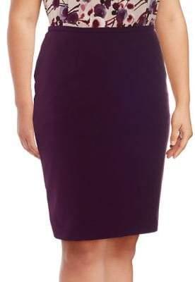 Calvin Klein Plus Crepe Pencil Skirt