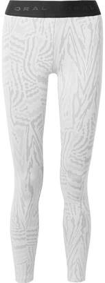 Koral Knockout Stretch Jacquard-knit Leggings - White