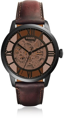 Fossil Townsman Automatic Dark Brown Leather Men's Watch