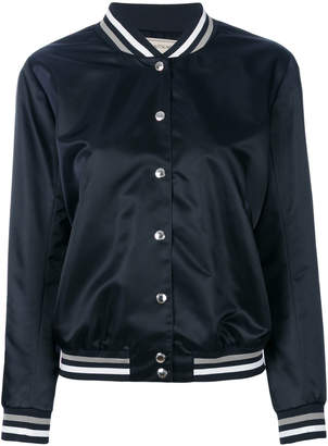 MAISON KITSUNÉ logo print satin jacket