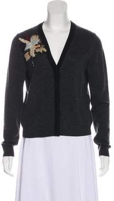 Diane von Furstenberg Wool-Cashmere Sequin Temira Cardigan Sweater