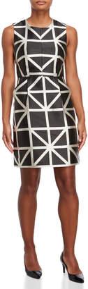 Milly Geometric Jacquard Dress