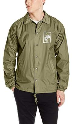 Obey Men's Nobody's Flower Coaches Jacket