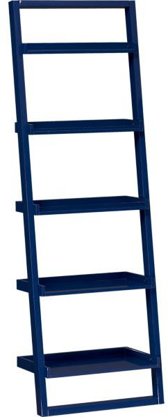 "Sloane Cobalt 25.5"" Leaning Bookcase"