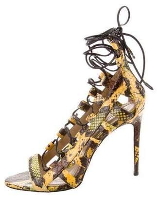 Aquazzura Amazon Python Sandals