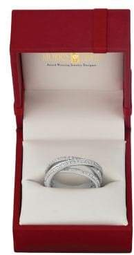 Morris & David Diamond and 14K White Gold Crossover Ring
