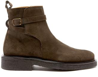 Ami Buckle-strap suede boots