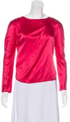 Emporio Armani Long Sleeve Silk Top