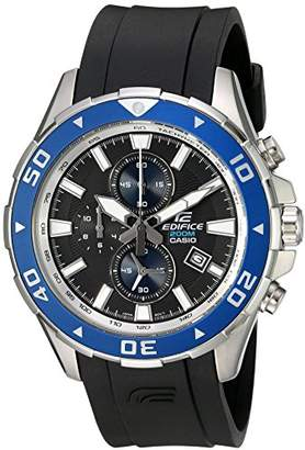Casio Men's EFM-501-1A2VCF Edifice Analog Display Quartz Black Watch