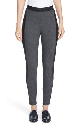 Eileen Fisher Contrast Panel Tweed Leggings