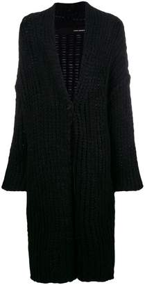 Isabel Benenato knit cardigan-coat