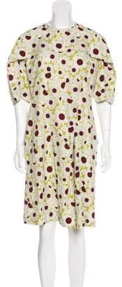 Marni Floral Print Midi Dress