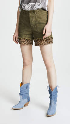 R 13 Leopard Utility Camp Shorts