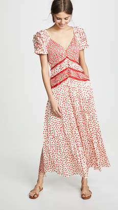 Self-Portrait Self Portrait Dot Satin Printed Dress
